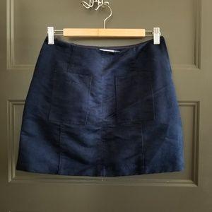Faux Seude Mini Skirt